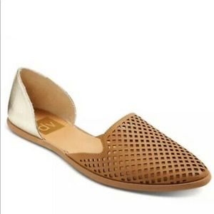 DV Dolce Vita perforated pointed toe flats